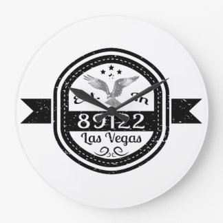 Established In 89122 Las Vegas Large Clock