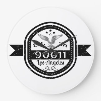 Established In 90011 Los Angeles Large Clock