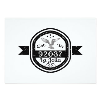 Established In 92037 La Jolla Card
