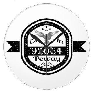 Established In 92064 Poway Large Clock