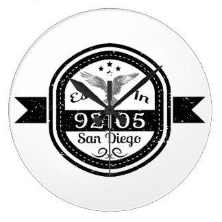Established In 92105 San Diego Large Clock