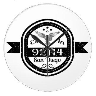 Established In 92114 San Diego Large Clock