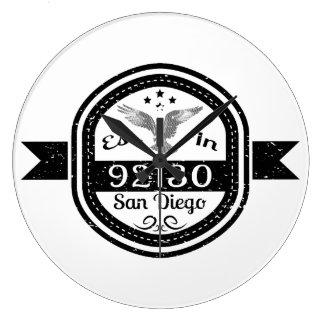Established In 92130 San Diego Large Clock