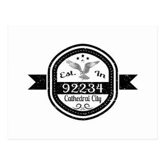 Established In 92234 Cathedral City Postcard