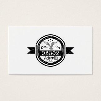 Established In 92392 Victorville Business Card