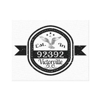 Established In 92392 Victorville Canvas Print