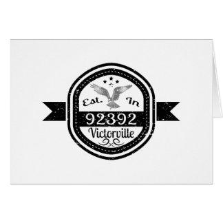 Established In 92392 Victorville Card