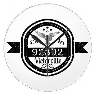 Established In 92392 Victorville Large Clock
