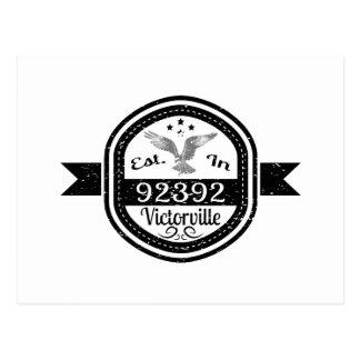 Established In 92392 Victorville Postcard