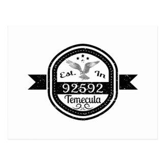Established In 92592 Temecula Postcard
