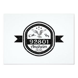Established In 92801 Anaheim Card
