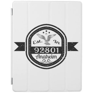 Established In 92801 Anaheim iPad Cover