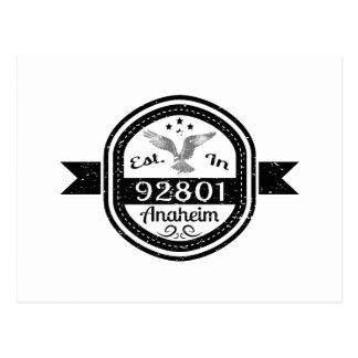 Established In 92801 Anaheim Postcard