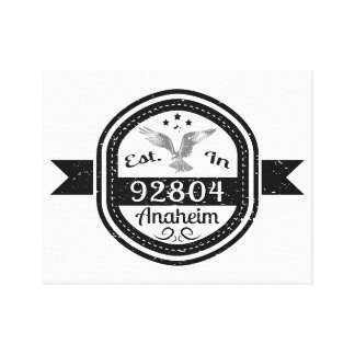 Established In 92804 Anaheim Canvas Print
