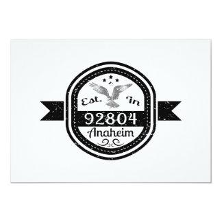 Established In 92804 Anaheim Card