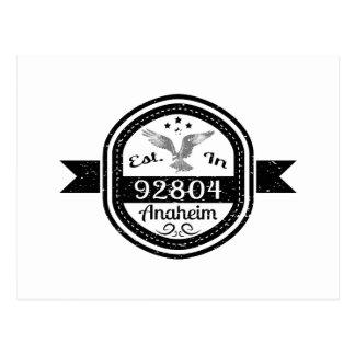 Established In 92804 Anaheim Postcard