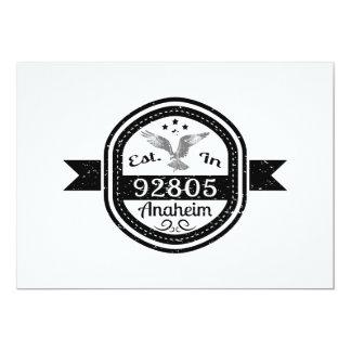 Established In 92805 Anaheim Card