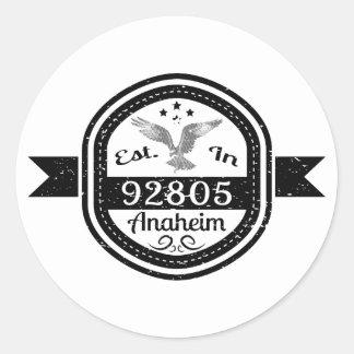 Established In 92805 Anaheim Classic Round Sticker
