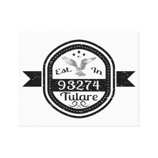 Established In 93274 Tulare Canvas Print