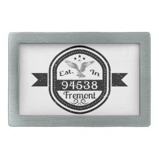Established In 94538 Fremont Rectangular Belt Buckle