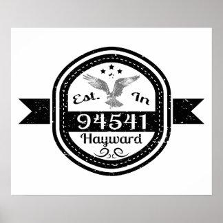 Established In 94541 Hayward Poster