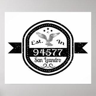 Established In 94577 San Leandro Poster