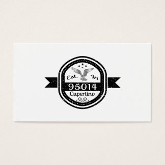 Established In 95014 Cupertino Business Card