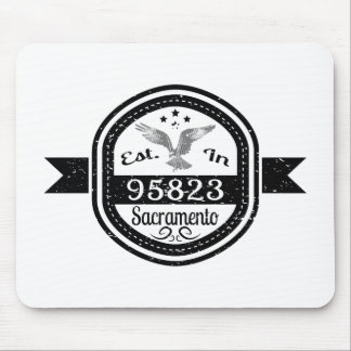 Established In 95823 Sacramento Mouse Pad