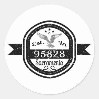 Established In 95828 Sacramento Classic Round Sticker