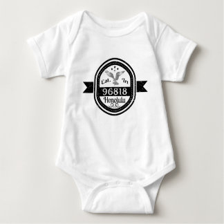 Established In 96818 Honolulu Baby Bodysuit
