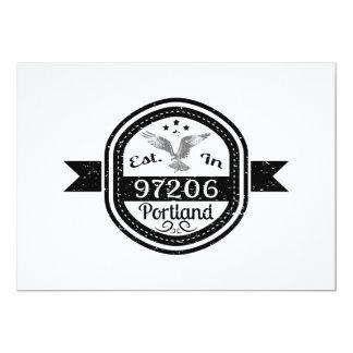 Established In 97206 Portland Card