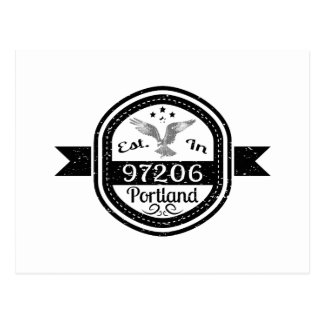 Established In 97206 Portland Postcard