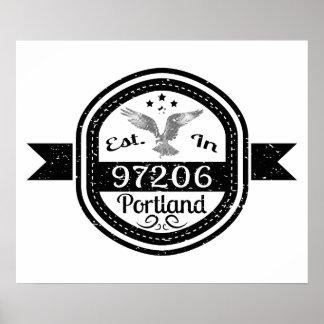 Established In 97206 Portland Poster