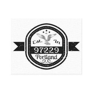 Established In 97229 Portland Canvas Print