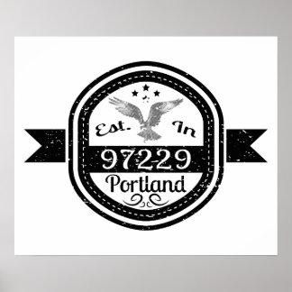 Established In 97229 Portland Poster