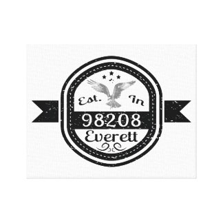 Established In 98208 Everett Canvas Print
