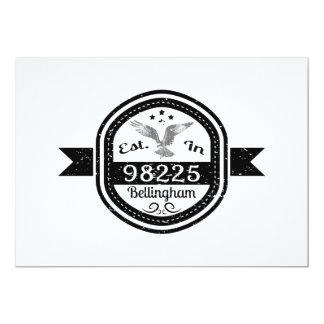 Established In 98225 Bellingham Card