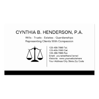 Estate Attorney Business Cards