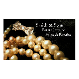 Estate Vintage Jewelry Business Card
