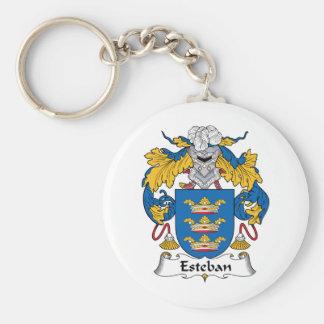 Esteban Family Crest Key Ring