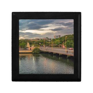 Estero Salado River Guayaquil Ecuador Small Square Gift Box