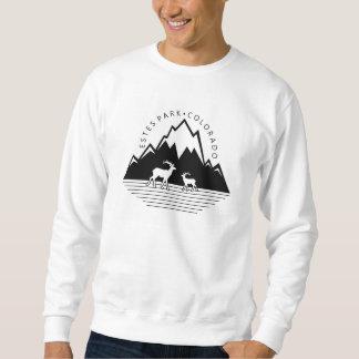 Estes Park Colorado simple moose mens shirt