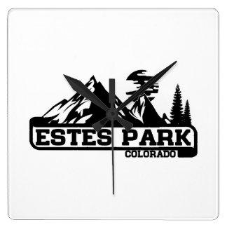 Estes Park Colorado Square Wall Clock