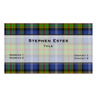Estes Traditional Tartan Plaid Custom Pack Of Standard Business Cards