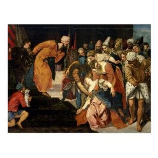 Esther before Ahasuerus, 1548 Postcard