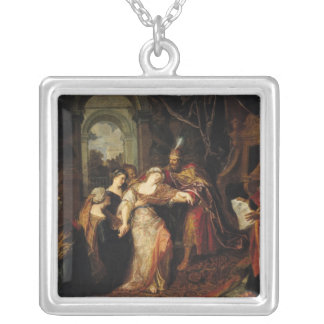 Esther before Ahasuerus, before 1697 Silver Plated Necklace