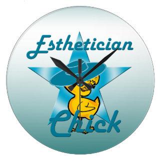Esthetician Chick #7 Large Clock