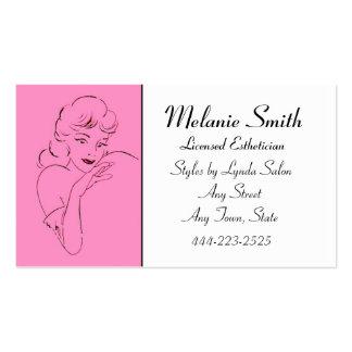 Esthetician Retro Style Salon Business Card