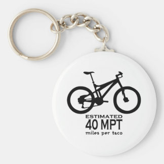 Estimated 40 Miles Per Taco Basic Round Button Key Ring
