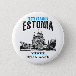 Estonia 6 Cm Round Badge